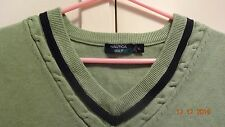 Mens Nautica Green Sweater Golf Vest Size L