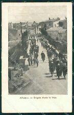 L'Aquila Alfedena Brigata Aosta Fanteria Militari cartolina QT7837