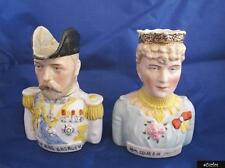 Pair Of Continental Toby Jugs King George V & Queen Mary 1911