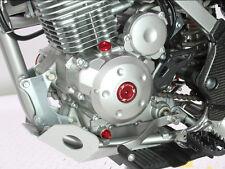 ZETA Anodized Aluminum Red Engine Plug Set 3 Pieces For Honda CRF250R/X 04-09