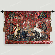 """The Lady & Unicorn Medieval Fine Art Tapestry Wall Hanging - TASTE, 55""""x41"""", US"""