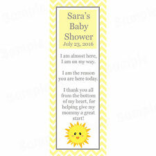 24 Personalized Baby Shower Bookmarks - You Are My Sunshine Baby Shower