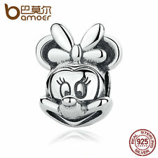 Bamoer Authentic S925 Sterling Silver Charms Pretty Animal Fit Bracelets Jewelry