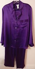 NEIMAN MARCUS 100% SILK PAJAMA SET PURPLE sz S NEW$160 100%AUTHENTIC