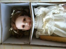 7 Hamilton Heritage Collection of porcelain dolls nice lot in the boxes