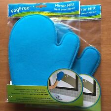 2 (1Pair) EVRIHOLDER CHEMICALLY TREATED FOG FREE MIRROR GLASS CLEANING MITT New