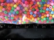 225 Count 3mm ASSORTED COLORED PONY Beads