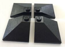 *NEW* 4 Pieces Lego BLACK Roof Tiles SLOPE 33 3X3 DOUBLE CONVEX 3675