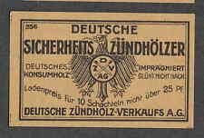 Ancienne étiquette Allumettes  Allemagne   BN1669  Aigle