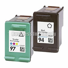 2 PK REMANUFACTURED HP 94 97 ink cartridge HP94 HP 97 Officejet H470 470b