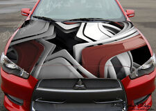 Abstract 3D Full Color Graphics Adhesive Vinyl Sticker Fit any Car Bonnet #117