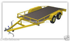 TRAILER PLANS - 2500KG FLATBED CAR CARRIER TRAILER PLANS - TANDEM AXLE