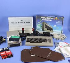 Complete Commodore 64 w/ 1541 Disk Drive, Joy Sticks, Games, Cables & Manuals