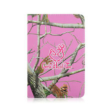 "Universal Carry Case Folio Leather Stand Flip For 8"" Android Tab Pink Girl Tree"