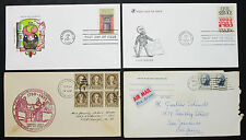 US postage set of 4 covers Civil Service Washington FDC LUPO USA lettere (h-8279