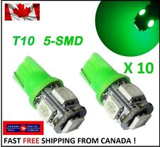 10X T10 LED Green Xenon 5SMD/5050/194Bulbs Light 168 W5W license Plate Wedge HID