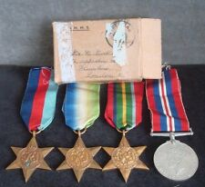 WW2 PACIFIC / ATLANTIC MEDAL GROUP - ROYAL NAVY from PLAISTOW LONDON