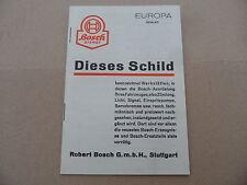 Prospekt Bosch Dienst Europa 1939/40