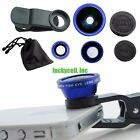 Universal Clip 3in1 Fish eye Macro Wide Angle Lens for All phones iPhone 4S 5S 6
