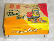 Vintage Shanghai Red China chinese Tin toy MS 704 Birds Music cart Boxed