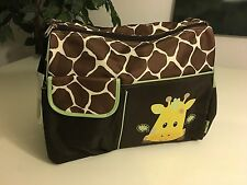 New Baby Boom Diaper Bag & Changing Pad - Brown & Green Baby Giraffe
