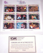 Disney Belle Beauty Beast Animated Film in Postage Stamps St. Vincent Retired