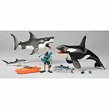 Animal Planet Mega Shark and Whale Set - Great White Shark and Killer Whale