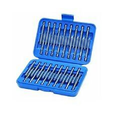 "36 Piece 3"" Long Screwdriver Bit Set Hex, Pozi, Torx, Tamperproof 1/4"" Hex Shank"