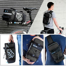 Waterproof Bike Bag Cycling Rear Rack Tail Seat Trunk Bag Pannier Style Backpack