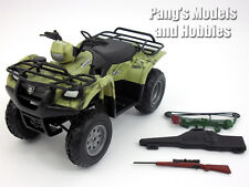 Suzuki Vinson QuadRunner (ATV) w/ Rifle and Bow 1/12 Scale Model - Hunting Camo
