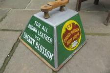 Original  CHERRY BLOSSOM   enamel Advertising sign SHOESHINE BOX  VGC