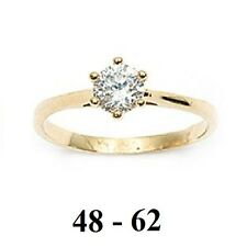 Dolly-Bijoux Bague Alliance T56 Solitaire Diamant Cz 5mm Plaqué Or 18K 5 Microns