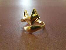 Fox Gold Adjustable Ring - Free gift wrapping