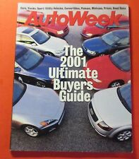 AUTO WEEK 2001 ULTIMATE BUTERS GUIDE MAGAZINE....FACTS..SPECS..PRICING..TESTS