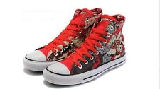 Hi Top Zapatos Superman Converse alta en Rojo De Hombre Talla 9.5 euro 43 (Reino Unido stock)