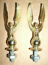 Two Vintage 1970's Brass Metal Majestic Eagle Trophy Topper Accessory Figures