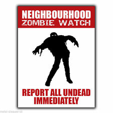 Reloj de Zombie de vecindad brote signo pared de metal/placa Walking Dead Cartel