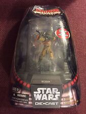 Hasbro Star Wars Titanium Die cast Bossk Painted Figure with Display Base New