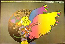 "Peter Max Apollo 11 ""From The Moon"" 1969 Psychedelic Art Poster Print"