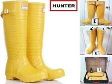 Hunter Jimmy Choo Yellow Croc Rubber Rain Boots Women 6 EU 37 wBox Gummistiefel