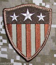 CAPTAIN AMERICA USA FLAG SHIELD ARMY DESERT BADGE VELCRO® BRAND FASTENER PATCH