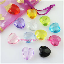 15Pcs Mixed Plastic Acrylic Clear Lovely Star Spacer Beads Charms 15mm