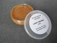 Repair Balm for Faded Worn Leather COLOUR Dye RESTORER Light Brown SOFA Armchair