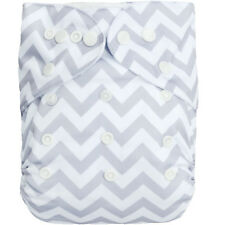 1 Alva Baby Bamboo Cloth Diaper + 1 4 Layers Bamboo Inserts All In One Size BS33