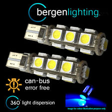2x W5w T10 501 Canbus Error Free Azul 13 Led sidelight Laterales Bombillos sl101803