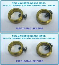 4 Lightning Rod Ball RINGS with screw to hold balls on Lightening WeatherVanes