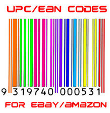 100 UPC EAN Codes Certified Numbers Barcodes For Amazon Ebay Code
