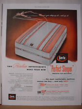 1953 Serta Perfect Sleeper Smooth Top Mattress Vintage Print Ad 10479