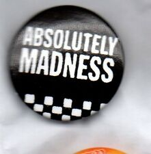 ABSOLUTELY MADNESS  - BUTTON BADGE - UK SKA BAND - SUGGS - ONE STEP BEYOND 25mm
