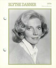 Blythe Danner 1970s Actress Movie Star Card Photo Front Biography on Back 6 x 7""